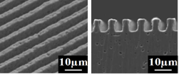 銅製MIMによる微細構造