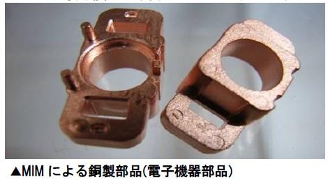 金属射出成形による銅製MIM