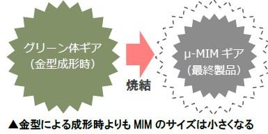 金属射出成形による微小ギア例2